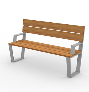 Rowan Bench - View 2 - Park (Silver).png