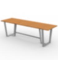 Rowan 8ft Table - View 2 - Park (Silver)