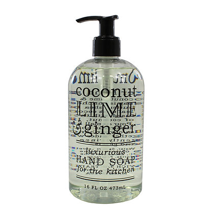 Coconut, Lime & Ginger Kitchen Hand Soap