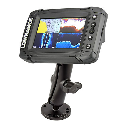RAM Double Ball Mount for Lowrance Elite-4 and Mark-4 Series