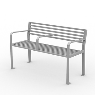 Urban Scape Bench - View 2 - Neutral (Si