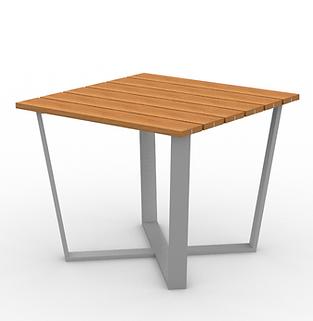 Rowan Square X Table - View 2 - Park (Si