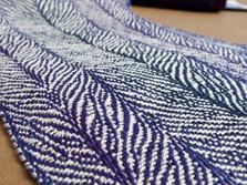 Janet-Bealer-Scarf-Sample-Purple-Feather