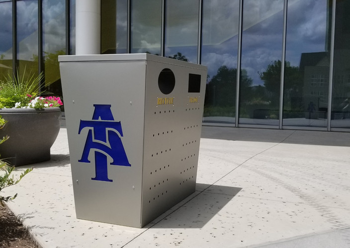A&T Double Zoid Trash Can