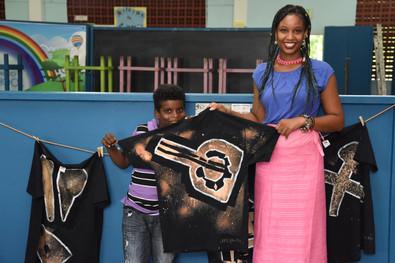 Auntie Ayesha and a future fashion designer