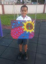 Charis Works Christian Academy student artist raises 500.00 TTD for his artwork