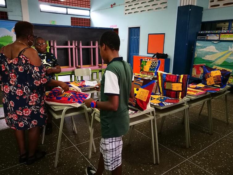 Raising funds in the exhibit boutique