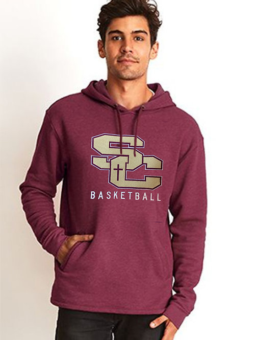 SC maroon-Next Level Apparel Unisex PCH Pullover Hood