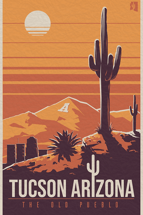 Sonoran Sunset: 18 x 27 Screen Printed