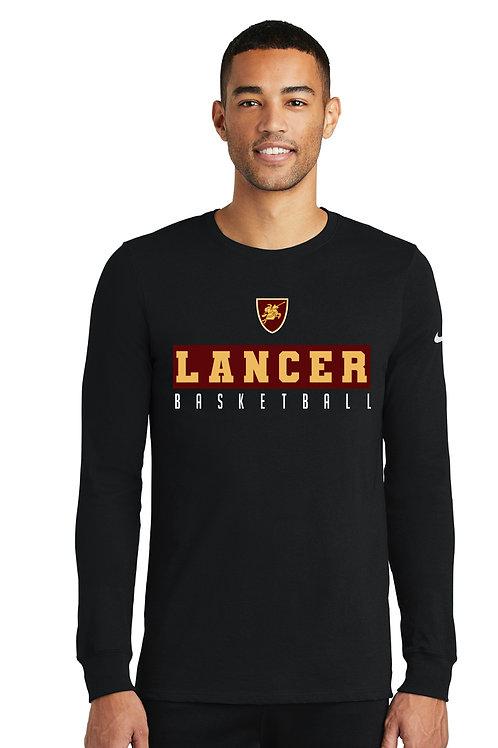 LANCER BLACK-Nike Dri-FIT Cotton/Poly Long Sleeve Tee