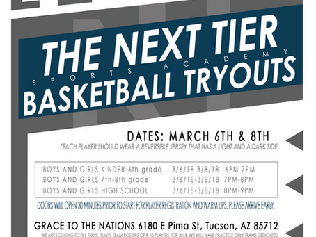 TNT TRYOUTS MARCH 6TH & 8TH 2018
