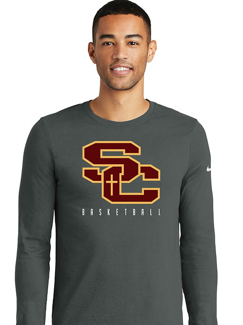 SC GREY-Nike Dri-FIT Cotton/Poly Long Sleeve Tee