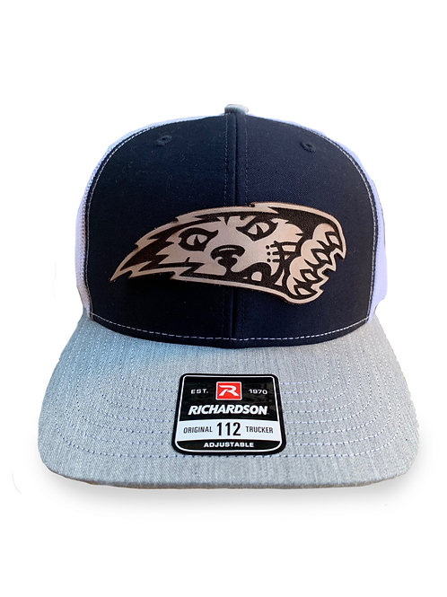 JR WILDCATS HAT WITH LEATHER DECAL