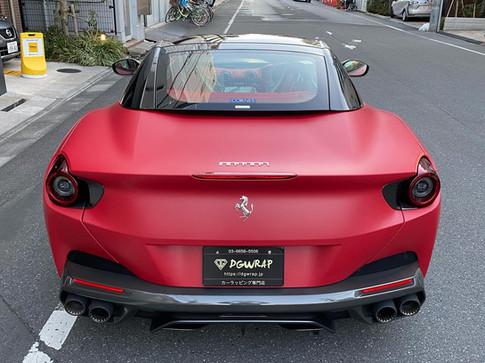 Portofino ポルトフィーノ matte red mettalic レッドマットメタリック フルラッピング