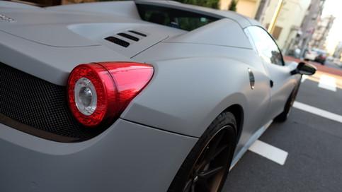 フェラーリ Ferrari 458 Spider スパイダー Matte Grey マットグレー フルラッピング