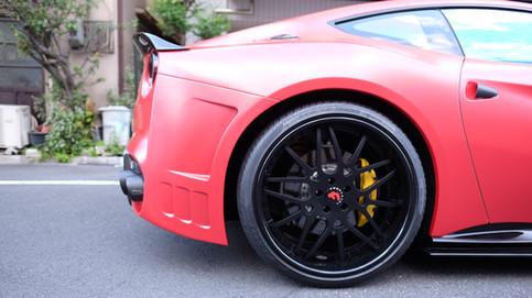 フェラーリ Ferrai F12 Satin Pearl Red フルラッピング