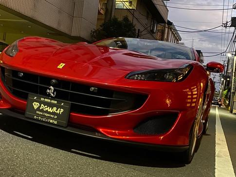 フェラーリ Ferrari ポルトフィーノ Portofino ペイントプロテクトフィルム フルラッピング PPF
