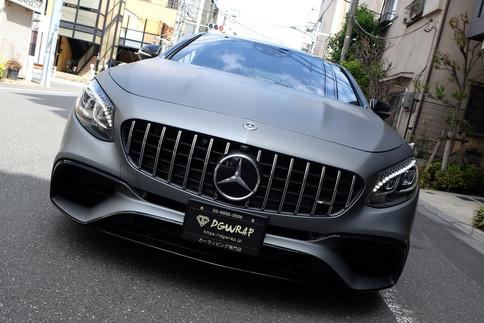 AMG S63 Gummetal Matte Metallic ガンメタマットメタリック ラッピング