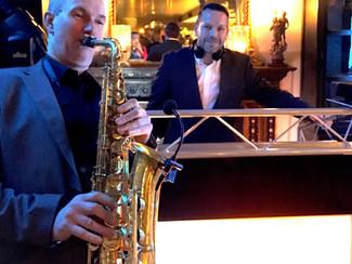 Danielle & Sebastian's 'Cafe del mar' style sax & DJ evening...