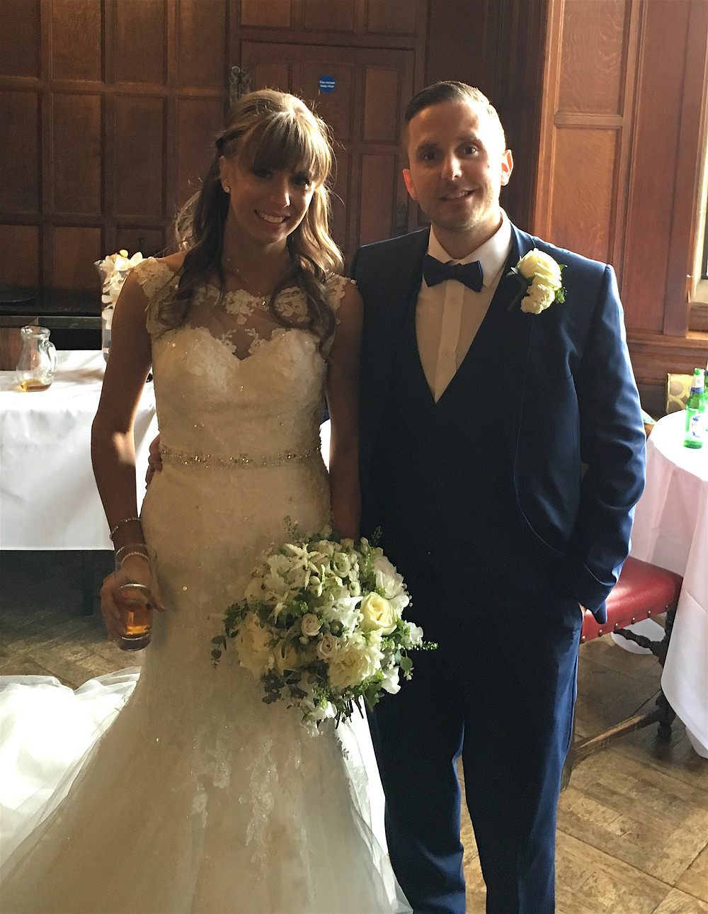 Lauren & Reece on their Wedding day