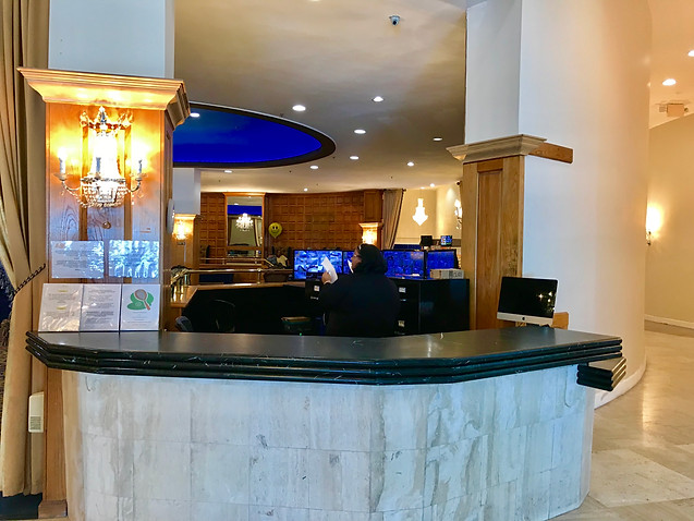 Front Desk for CHECK IN