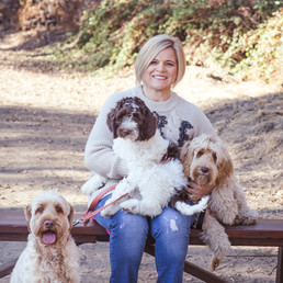 Michelle and her pups