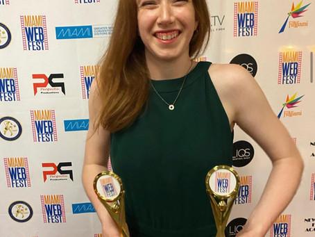 "Congrats to Monica Arsenault on her award-winning web series ""Nun Habits"""