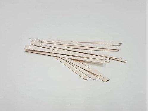 מקלות עץ דקים לערבוב - 100 יחידות