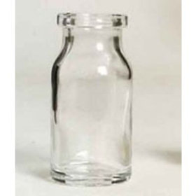 """בקבוק זכוכית שקוף 8 מ""""ל"""