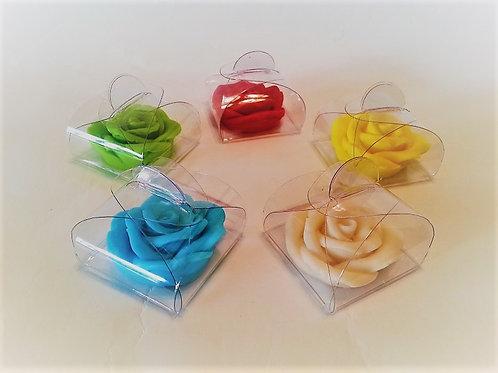 פרח בודד במעטפת PVC