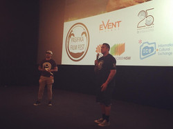PFF director _nigelvagana on the Q&A with Sione Faumuina following the screening of the closing nigh