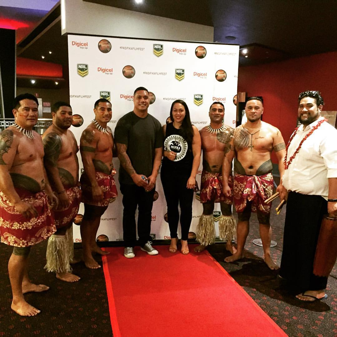 Excited to share the screening of _infootballwetrust with BRISBANE and _sione_faumuina and the oiled
