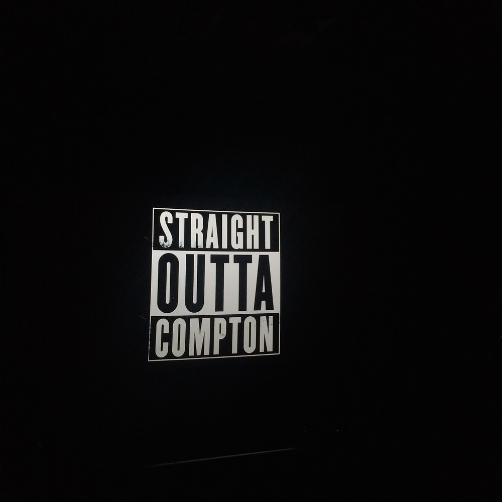 Watching 'Straight Outta Compton' in LA. Snapped this photo and sent it to my younger cousin. He told me I suck.