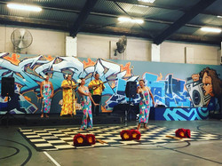 Enjoying a performance by Polynesia Horizon at _streetunilivo ahead of the screening of SONS OF HALA