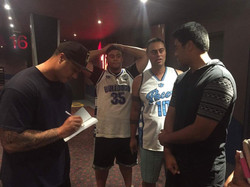 _sione_faumuina signing some copies of _thesecondphase13 for our MERCENARY audience
