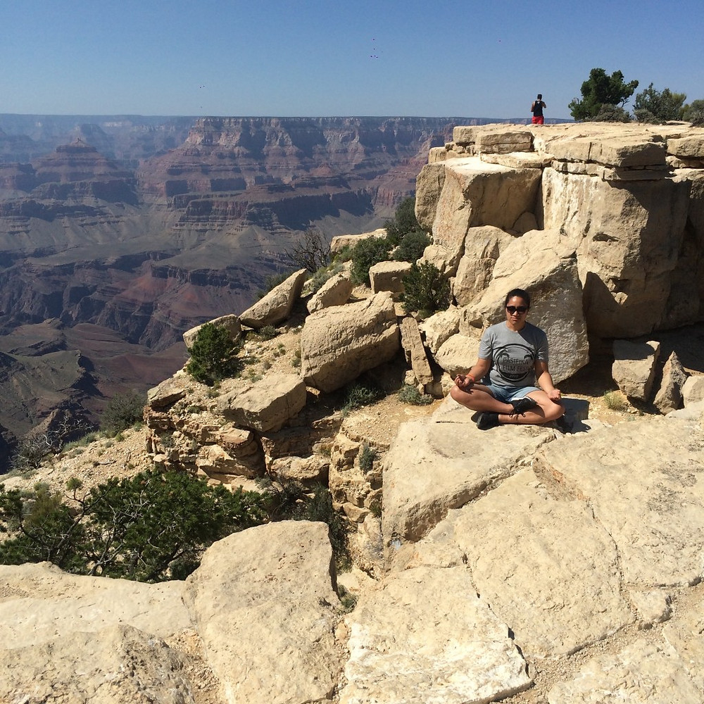 Me in the Grand Canyon, trying to get zen for PFF before it all gets real.