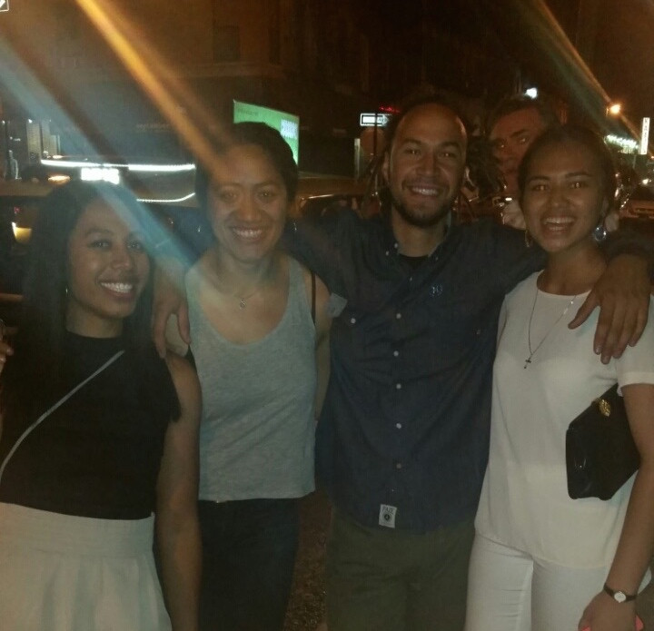 My cousins and I with Chalo, the Nicaraguan with all the Poly slang.