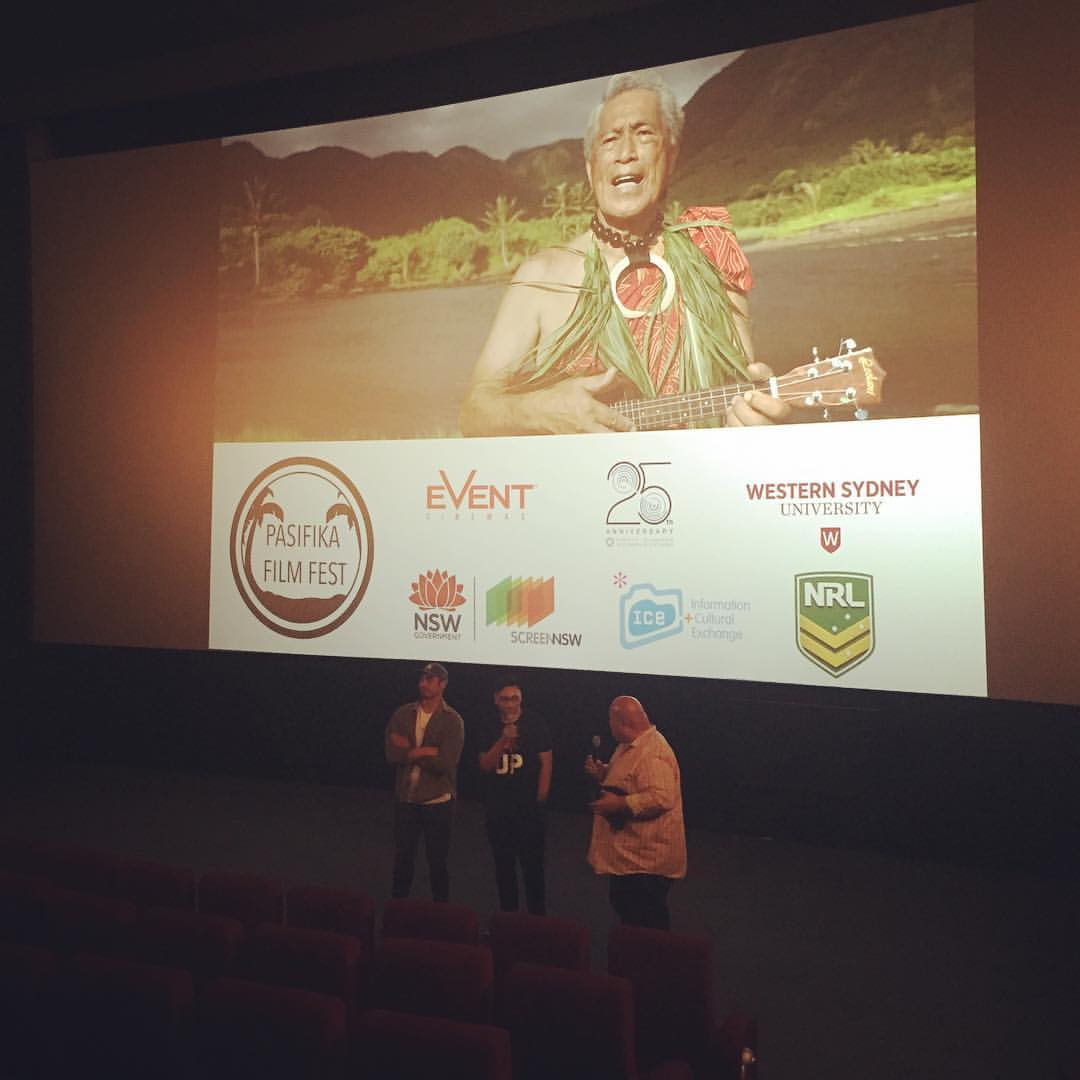 Q&A following TALANOA SHORTS #pasifikafilmfest  Actor Taofia Pelesasa of The Promise of Piha & Direc