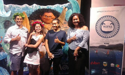 Some of our amazing PFF-GOER'S Tori & John and Sarah from My House Agency at the Tales of Oceania Se