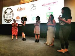 Q&A with Lisa, Angela, Emele & Maureen following the screening of ADORN. #pasifikafilmfest #nesianha