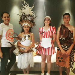 PFF Director Kalo Fainu with Benjamin and Leandra Cameron who performed at Events Campbelltown for T