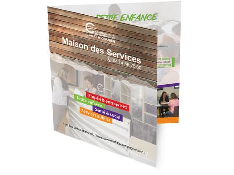 MAISON DES SERVICES DU PILAT RHODANIEN | dépliant | design graphique