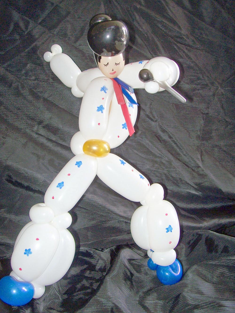 Elvis Balloon sculpture in Denver
