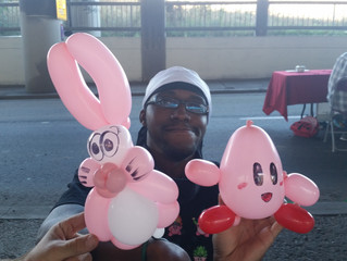 Balloon Twisting Kirby and Bunny at Denver Event