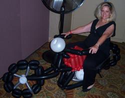 Motorcycle Denver Balloon Delivery Decor