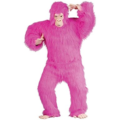 Pink gorilla for Denver Singing Telegram