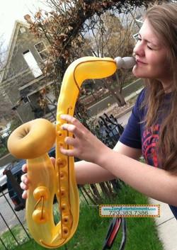 Saxaphone Musical Instrument balloon Denver Delivery Decor