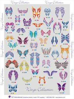 wings collection stencils Denver Body art face airbrush Face Paint