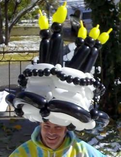 Happy Birthday cake hat balloon Denver Delivery Decor