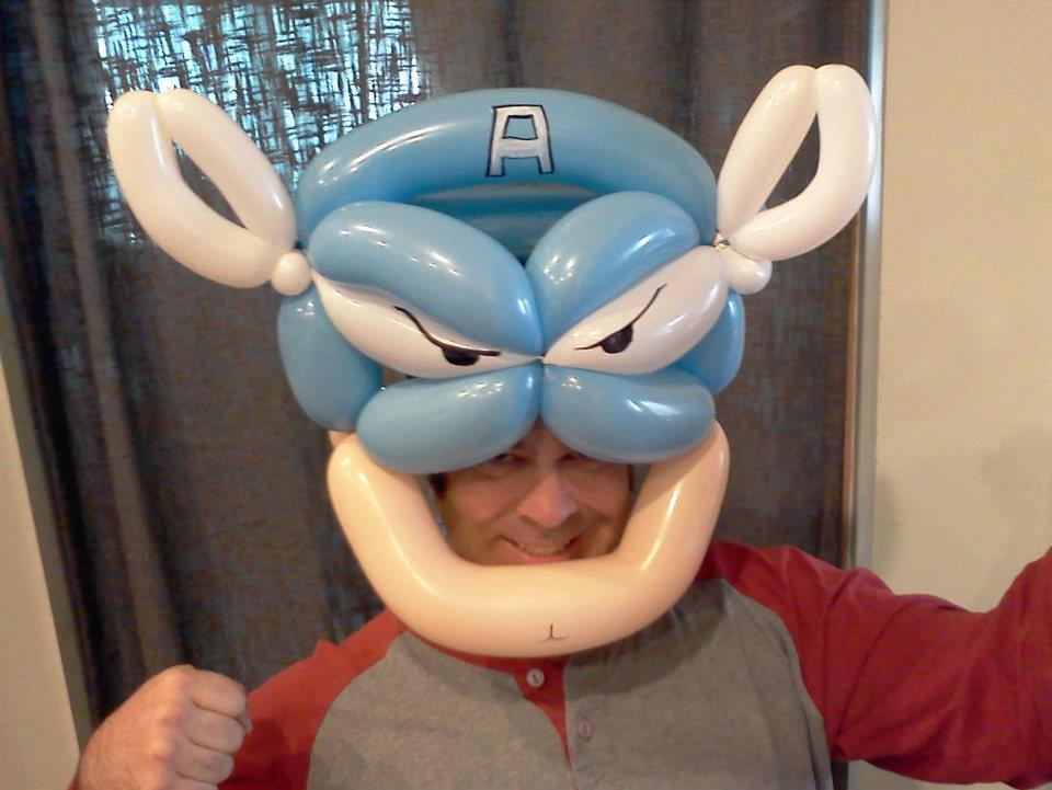 Captain America Balloon Animal Hat